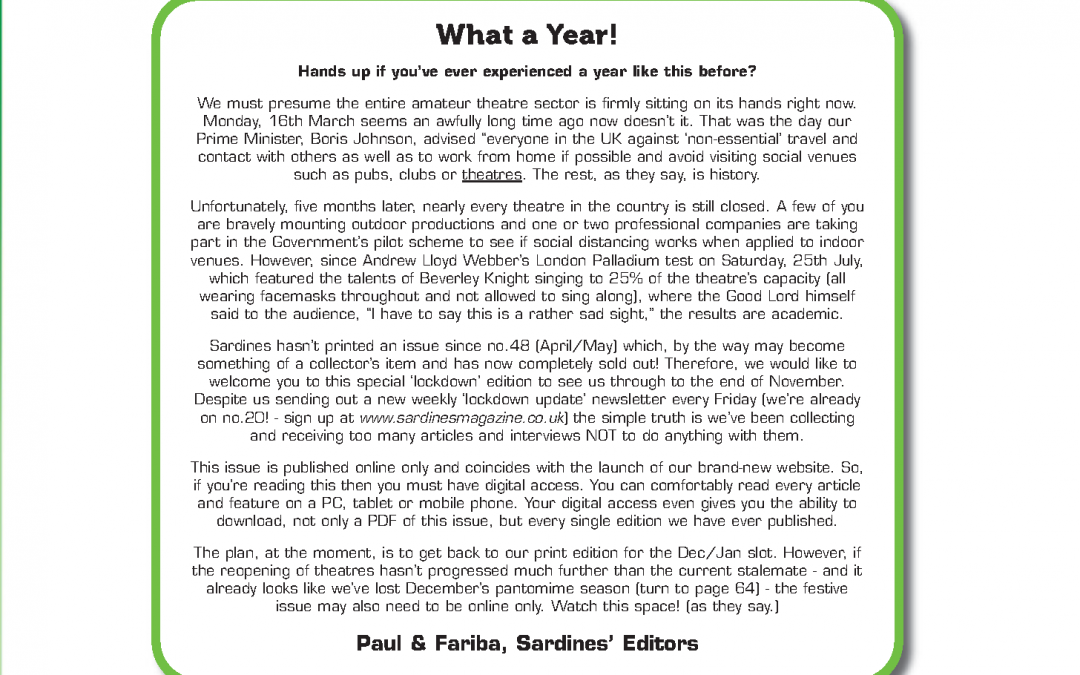 What a Year! (Foreword)