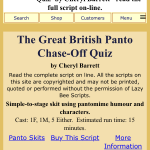 THE GREAT BRITISH PANTO CHASE-OFF QUIZ