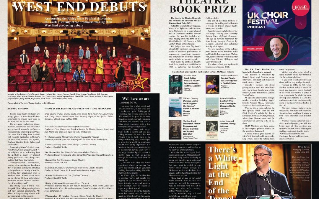 YOUR NEWS – Theatre Book Prize 2021